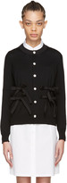 Comme des Garcons Black Wool Bow Cardigan