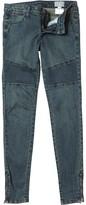 Converse Womens Saffi Biker Zip Super Skinny Fit Jeans Super Blast Wash