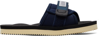 Suicoke Navy and Black PADRI Sandals