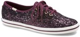 Kate Spade Keds X Keds x Women's Sneakers GLITTER - Deep Cherry Glitter Champion Sneaker - Women