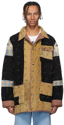 Bode Multicolor Quilted Workwear Jacket