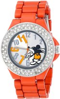 Disney Women's Mickey Mouse Dial Enamel Bracelet Watch MK2078