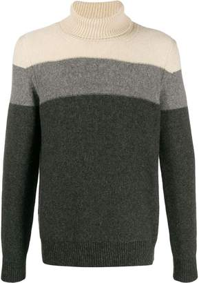 Roberto Collina striped roll-neck jumper