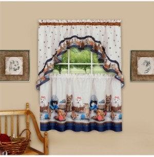 Achim Precious Printed Tier and Swag Window Curtain Set, 57x24