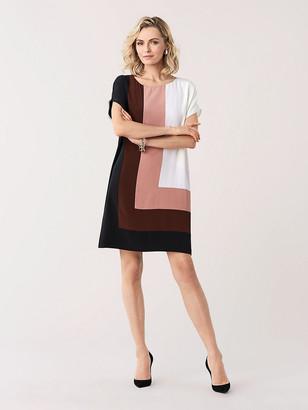 Diane von Furstenberg Danika Silk Crepe de Chine Shift Dress