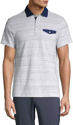 Saks Fifth Avenue Classic Striped Polo Shirt