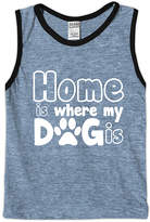 Urban Smalls Heather Blue 'Home Is Where My Dog Is' Tank - Toddler & Boys