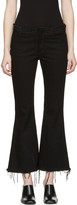 Marques Almeida Black Flared Capri Jeans