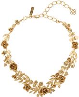 Oscar de la Renta Gold-plated rose and leaf vine necklace