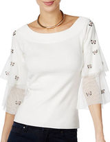 I.N.C International Concepts Petite Petite Embellished Sweater
