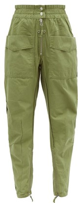 Etoile Isabel Marant Lecia Tapered Cotton-canvas Utility Trousers - Womens - Khaki