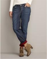 Eddie Bauer Boyfriend Flannel-Lined Jeans