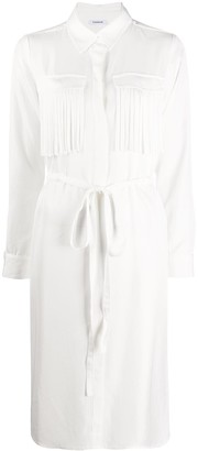 P.A.R.O.S.H. Fringed Chest Pockets Shirt Dress