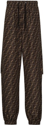 Fendi FF print track trousers
