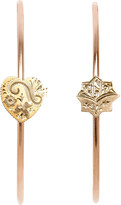 Annina Vogel 9ct rose-gold heart and star hoop earrings