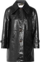 Chloé Crinkled Glossed-leather Coat - Black