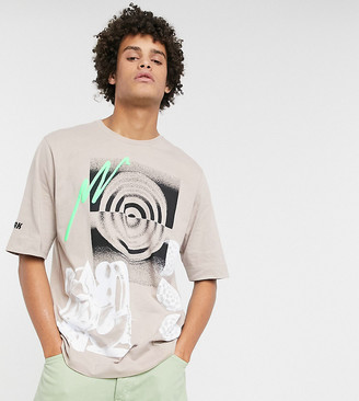 Noak x Will Harvey printed t-shirt in washed gray