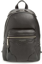 Marc Jacobs Scallops Leather Backpack - Black
