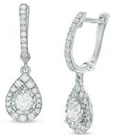 Zales 1/2 CT. T.W. Diamond Pear-Shaped Drop Earrings in 10K White Gold