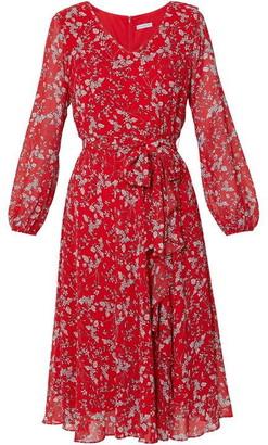 Gina Bacconi Ridley Floral Chiffon Dress