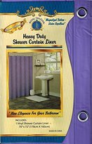 "Fayari, Different Colors, Solid Bathroom Repellent Vinyl Plastic Shower Curtain Liner with Metal Grommets and Magnets 70"" X 72"" (Purple)"
