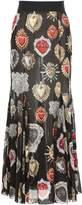 Dolce & Gabbana Long Printed Skirt