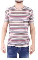 Daniele Fiesoli Men's Multicolor Linen T-shirt.