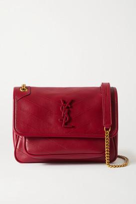 Saint Laurent Niki Baby Mini Quilted Leather Shoulder Bag - Red