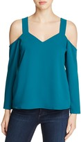 Cooper & Ella Zoya Cutout Cold Shoulder Top