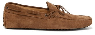 Tod's Gommino Suede Driving Shoes - Mens - Brown