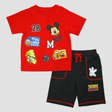 Disney Toddler Boys' Mickey Mouse & Friends Top and Bottom Set - Red