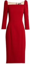 Dolce & Gabbana Square-neck stretch-wool pencil dress
