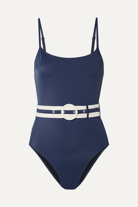 Solid & Striped The Nina Belted Swimsuit - Navy