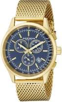 Akribos XXIV Men's AK625BU Ultimate Swiss Chronograph Dial Gold-Tone Stainless Steel Mesh Bracelet Watch