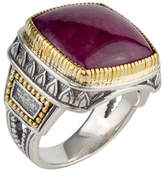 Konstantino Men's Sterling Silver & 18K Gold Signet Ring with Ruby Root