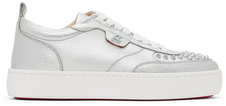Christian Louboutin Silver Happy Rui Sneakers