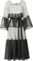 Lisa Marie Fernandez stripe panel dress - women - Cotton - II