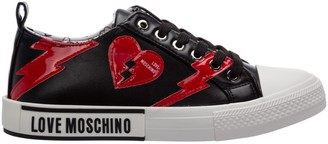 Love Moschino Brushstroke Hearts Sneakers