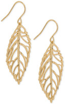 Giani Bernini 18k Gold-Plated Sterling Silver Openwork Leaf Drop Earrings, Only at Macy's