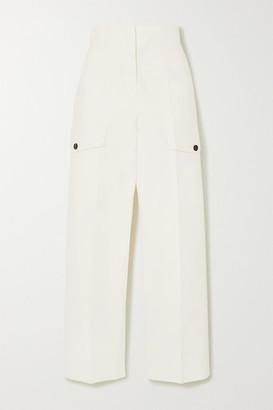 LVIR Cropped Cotton Straight-leg Pants - Ivory