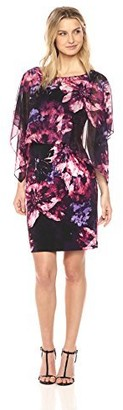 SL Fashions Women's Short Sleeve Popover Dress