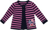 Jo-Jo JoJo Maman Bebe Embroidery Cardigan (Toddler) - Navy/Orchid Stripe-2-3