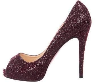 promo code ed531 3179e Glitter Peep-Toe Pumps