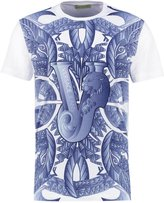 Versace Jeans Print Tshirt Bianco