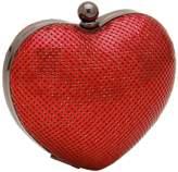Whiting & Davis Charity Heart Minaudiere.