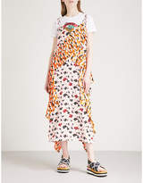 Kenzo Floral-print crepe midi dress