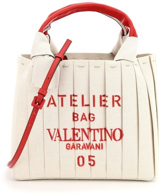 Valentino 05 Plisse Edition Atelier Small Tote Bag