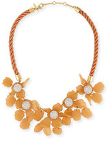 Lele Sadoughi Sculptural Lily Crystal Statement Necklace