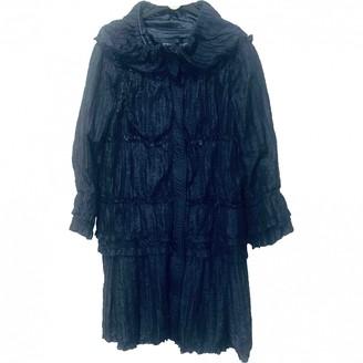 Ermanno Scervino Blue Trench Coat for Women