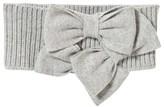 Il Gufo Grey Knit Triple Bow Headband